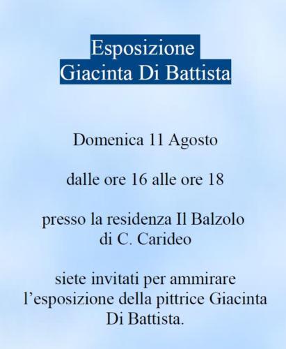 Invito espo Giacinta 11 agosto